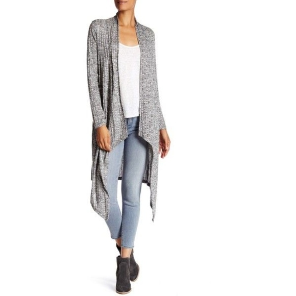 d7a34553f1e Edista Sweaters - Edista Grey Ribbed Duster Cardigan Large Nordstrom